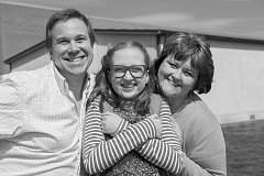 COURTESY PHOTO - Members of the Jones family -- played by Janeen Sollman, Grace Armstrong and Matthew Starling -- perform in Junie B. Jones The Musical.