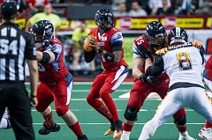 TRIBUNE FILE PHOTO: JOHN LARIVIERE - Quarterback Darron Thomas has rejoined the Arena Football League team in Portland, signing with the Steel after the team's 0-3 start.