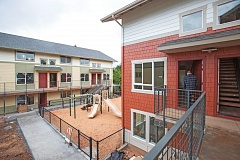 PORTLAND TRIBUNE: JONATHAN HOUSE - The new Fern Grove apartment complex on East Burnside Street is not funded by the city but still aimed at low-income families.