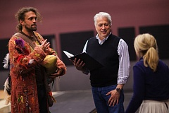 COURTESY: JONATHAN LEY - In preparations for his beloved 'Magic Flute,' Portland Opera's Christopher Mattaliano works with John Moore and Maureen McKay. Mattaliano first worked on 'Magic Flute' in 1980, with legendary writer/illustrator Maurice Sendak.