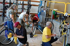 CITY OF GRESHAM - Volunteers are on hand throughout May to help Gresham residents with their bicycle issues for Bike Month.