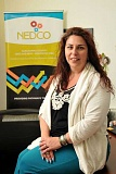 STAFF PHOTOS: VERN UYETAKE  - Sandra Breuer is an Asset Preservation Specialist with NEDCO. She is the teacher of NEDCOs Financial Foundations class, which aims to improve peoples financial literacy rate.