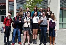 MOLALLA HIGH SCHOOL - , eleven of Molalla High School's top art students were invited to the Tri-Valley art showcase hosted by Gladstone High School