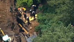 KOIN - One person died in a trench collapse along SW 54th in Portland, May 5, 2016