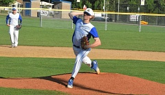 TIMES PHOTO: MATT SINGLEDECKER - Aloha sophomore pitcher Matthew Powers threw five quality innings against Sunset to help the Warriors beat the Apollos 4-3 on Friday.