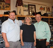 HOLLY SCHOLZ/CENTRAL OREGONIAN - Prineville Men's Wear owners Rob, Cathy and Jim Lane. Not pictured is Patrick Lane.