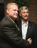 TRIBUNE FILE PHOTO - Staton and Skipper on election night, May 18, 2010. Forced to step down early, Skipper had designated Staton to succeed him. The 2010 primary cemented Staton in the role.