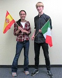 SUBMITTED PHOTO - Lakeridge's April James and Brennan Watkins pocketed Silver Medal Awards for their performance on the Spanish 4 Exam