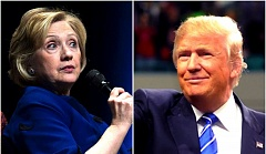 COURTESY PHOTOS/FILE PHOTOS - A new poll says Democrat Hillary Clinton would beat Republican Donald Trump in Oregon by a wide margin if the election were held today.