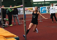 DAN BROOD - Tigard junior Sareena Patzke gets ready to take off over the high jump bar at last week's meet. Patzke cleared 5-0 to win the event.
