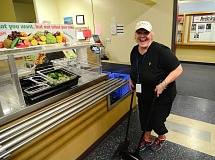 REVIEW PHOTO: VERN UYETAKE - Catch Connie Huston, 72, any day volunteering at Lake Oswego Junior High.