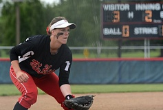 THE OUTLOOK: DAVID BALL - Mt. Hoods Megan Marcy keeps her eye on the batter from third base.