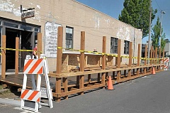 GARY ALLEN - With few options for outdoor seating in Newberg, local restaurant Ruddick/Wood has begun a project that will create an outdoor dining area along Edwards Street.