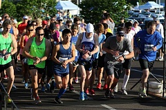 SUBMITTED PHOTO - The Tonkin Challenge includes three races - the five mile race, 5K and half mile 'mascot dash.'