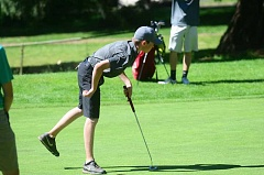 HERALD PHOTO: COREY BUCHANAN - Sam Krauss finished tied for second at the regional tournament featuring teams from the Three Rivers League and Mount Hood Conference.