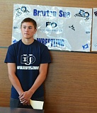SPOTLIGHT PHOTO: JAKE MCNEAL - Indians senior Braxton Sue announced his intent to study forestry at and wrestle for Eastern Oregon University (La Grande) on Friday, May 13, at Scappoose High School.
