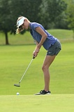 VERN UYETAKE - Cami Dozois finished in a tie for second place individually and helped the Lake Oswego girls golf team take third place at last week's state golf tournament in Banks.