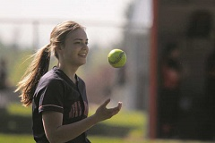 PHIL HAWKINS - Hannah Arritola and the rest of the No. 5 Kennedy softball team host the Monroe Dragons Wednesday.