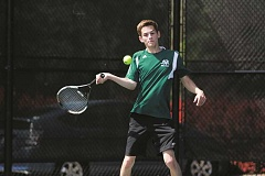 PHIL HAWKINS - North Marion senior Ethan Berkey finished his high school tennis career with a trip to the 4A singles state championship, losing 6-2, 6-1 to fellow senior Matt Biggi, of Valley Catholic.