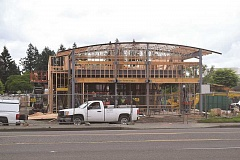 DANIEL PEARSON - The new Canby McDonald's will have almost double the parking lot space of the old restaurant.