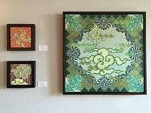 SUBMITTED PHOTO  - Beth Yazhari is displaying her beaded paintings at IM=X Pilates studio in Lake Oswego through August.