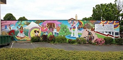 COURTESY CITY OF BEAVERTON - A new mural in Beaverton's Old Town celebrates the city's growing diversity through multi-cultured art forms.