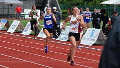TIMES PHOTO: MATT SINGLEDECKER - Valley Catholic junior Julia Clark took third in the 400 meters at the the Class 4A state championship meet on Saturday at Hayward Field.