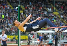 SUBMITTED PHOTO: SETH GORDON - Wilsonville junior Harrison Steiger clears the bar during the high jump event at the track and field state championships.