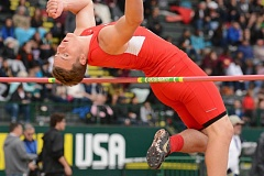 THE OUTLOOK: DAVID BALL - Corbett High senior Devin Weien gets over the bar on his way to third place in the high jump Saturday.