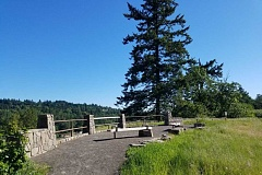 PHOTO COURTESY METRO - A new overlook at the Canemah Bluff Nature Park offers visitors sweeping views of the Willamette River and West Linn.