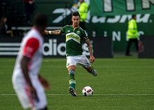 TRIBUNE PHOTO: TAL VOLK - Liam Ridgewell attempts to score for the Portland Timbers.