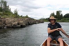 REVIEW PHOTO: ANHONY MACUK - Willamette Riverkeeper director Travis Williams paddles around the eastern side of Hog Island. The organization helps clean up invasive species on the island on behalf of Clackamas County.