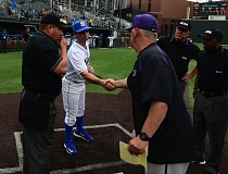 COURTESY: UCSB - UC Santa Barbara coach Andrew Checketts (second from left), from West Linn High and Oregon State, has guided the Gauchos to a surprise appearance in the College World Series.