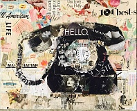 SUBMITTED PHOTOS - 'Hello,' by Jamie Pavlich-Walker, is one of 73 pieces in the Lake Oswego Festival of the Arts' Special Exhibit, 'Chasing Paper.' The exhibit stretches the boundaries of paper as an art form through sculpting, casting, excavating, folding, cutting and collage.