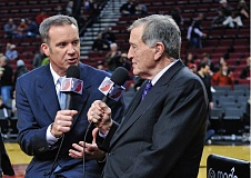 TRIBUNE FILE PHOTO - Mike Barrett (left) and Mike Rice wont be back behind the mike as Trail Blazers broadcasters.