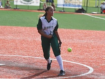 TIMES FILE PHOTO - Jesuit sophomore pitcher Olivia Strickland was named Class 6A first team all-state after winning 30 games for the Crusaders this season.