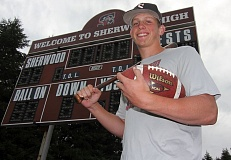TIMES PHOTO: MILES VANCE - Adley Rutschman, a graduated senior from Sherwood High School, was named Sherwood Athlete of the Year by The Times after a stellar season in both football and baseball.