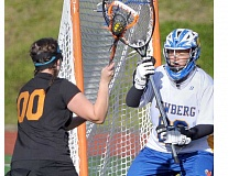 SETH GORDON - Kylie Duey was one of four Newberg girls lacrosse players to earn all-Northwest Oregon Conference first-team honors after averaging 10.2 saves per game for the Tigers this spring.