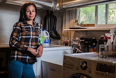 PHOTO BY JON HOUSE - Concerned about the state of drinking water at her home just outside of Milwaukie city limits, Michelle Murdock installed a water filter in the basement.