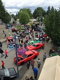 COURTESY OF LANA PAINTER - An overview of this years Cruisin Sherwood shows a large presence of both cars and attendees to Old Town Sherwood.