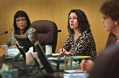 PORTLAND TRIBUNE FILE PHOTO - Multnomah County Chair Deborah Kafoury (right) and Commissioner Loretta Smith (left) will address the Charter Review Commission on Tuesday.