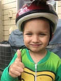 PHOTOS COURTESY CARIN SHERMAN - Liam Sherman, 3, proudly wears his new bike helmet, courtesy of Clackamas Fire.