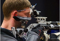 CONTRIBUTED PHOTO - Gresham High graduate Ryan Jacobs zeroes in on a target. He finishes second in the three-position event at last weeks U.S. Nationals.