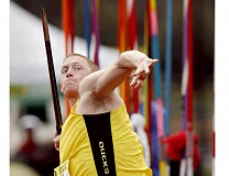 PHOTO COURTESY OF UNIVERSITY OF OREGON - Newberg native Cyrus Hostetler earned the top mark at the Olympic Trials in Eugene Monday, guaranteeing him a return ticket to the Olympic Games in Rio next month. Hostetler set an 83.24-meter mark that couldn't be matched by his competitors.