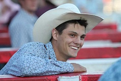 JIM BESEDA/MOLALLA PIONEER - Chase Dougherty is a recent graduate of Canby High School, where he won three Oregon High School Rodeo Association bull riding titles.