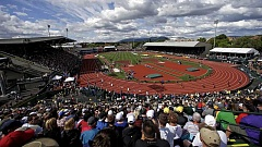 Fans pack Hayward Field to watch the U.S. Olympic Track and Field Trials.