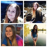 SUBMITTED PHOTO - Four recent photos of Mariah Porter, 15, last seen in Fairview.