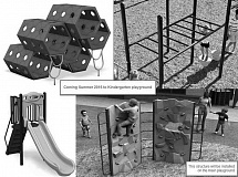 COLTON BOOSTERS CLUB - The new playground will include a new slide, monkey bars, a honeycomb climber, and a rock wall.