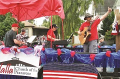 MOLALLA PIONEER - The Molalla Church of the Nazarene put on a great show at Molalla's Fourth of July Giant Street Parade. They won the Director's Sweepstakes, sponsored by the Stagecoach Inn.