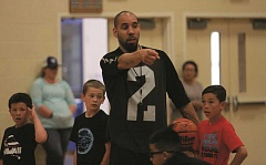 PHIL HAWKINS - Ryan Slider, the Bullldogs new head boys basketball coach, leads the Jr. Bulldog Basketball Camp for boys and girls in third- through eighth-grade the last week of June. Slider played basketball for University of Montana as well as professionally in Europe and South America.